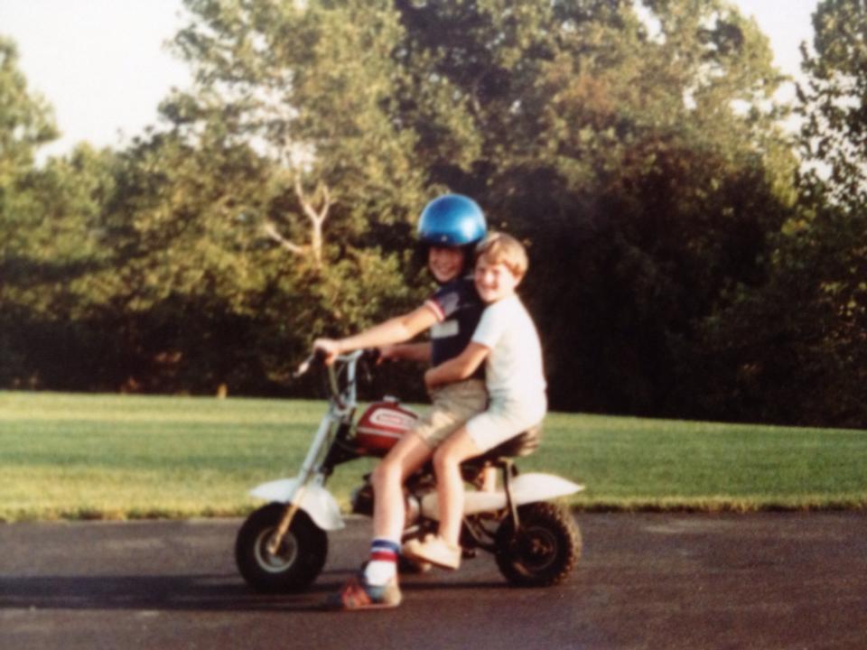 Kids on dirt bike