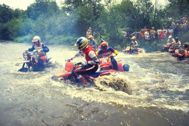 ATVs  Crossing River