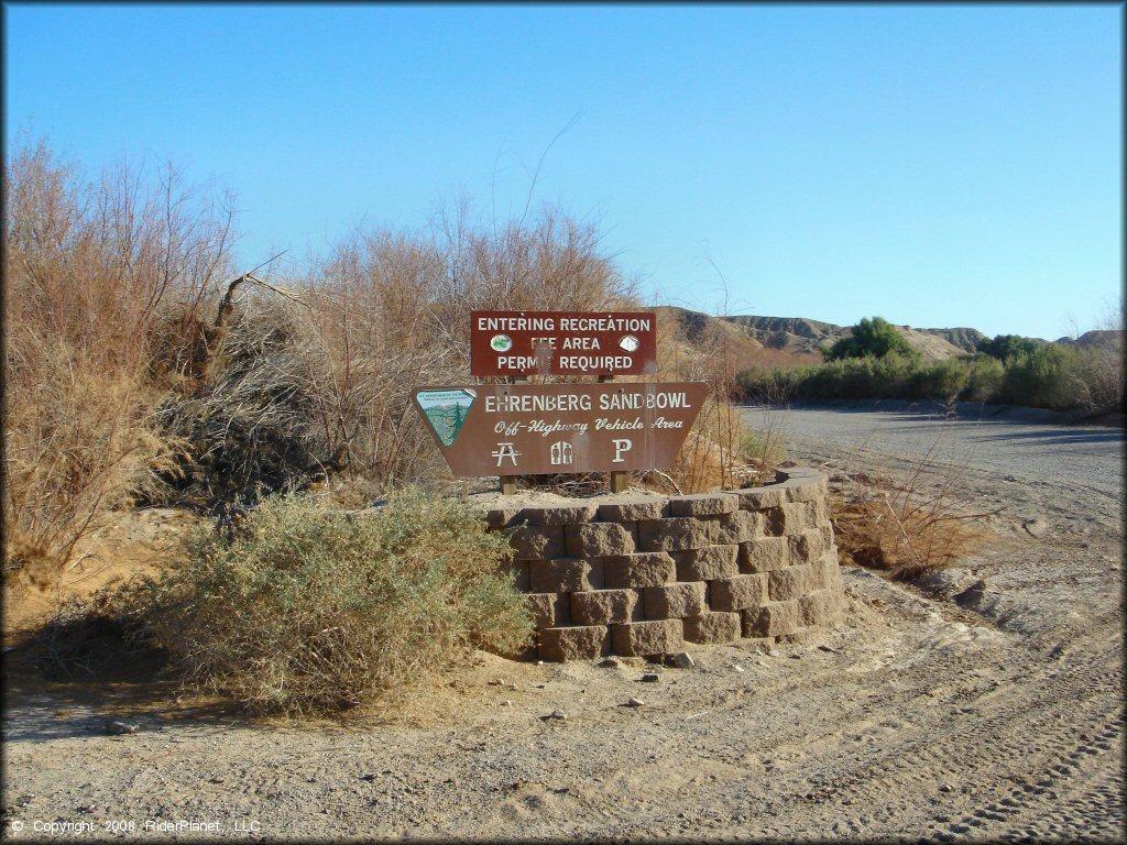 Ehrenberg Sandbowl Ohv Area Arizona Motorcycle And Atv Trails